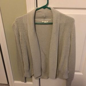 Open front sweater